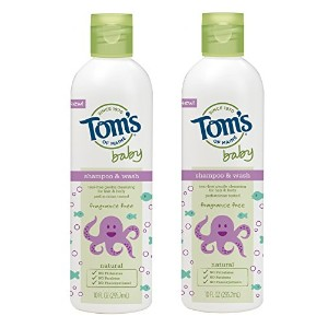 Tom's of Maine Natural Baby Shampoo and Wash, Fragrance Free, 10 Ounce by Tom's of Maine