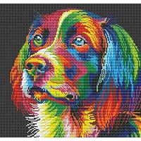 Colorful dog counted cross stitch kits 14 ct, 犬と色、クロスステッチキット139*138 ポイント、35*35cm クロスステッチ