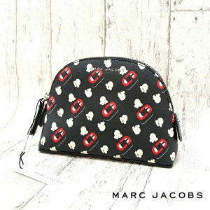 MARC JACOBS マークジェイコブス コスメポーチ BLACK MULTI M0013318 Double j Small Rectangle Cosmetic 化粧ポーチ コスメポーチ