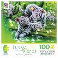 【Ceaco 100 Piece Furry Friends : Tiger Cubsジグソーパズル】 n b01a1hls8y