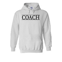 Coach Trainer Sport Funny Novelty White Men Women Unisex Hooded Sweatshirt Hoodie-M