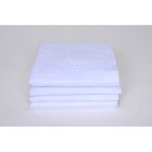 Royal Heritage Home Jumbo 3 Ply Waterproof Flat Pads - Crib - Set of 4 by Royal Heritage Home