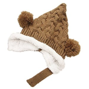 BuyHereキュートunisex-babyニットキャップKeeping Warm in Winter ブラウン BuyHere