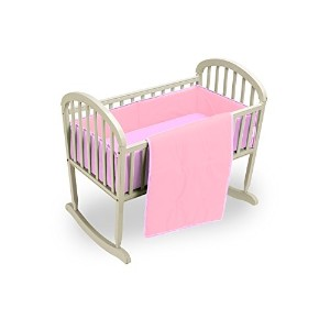 Baby Doll Bedding Reversible Cradle Bedding, Pink/Lavender by BabyDoll Bedding