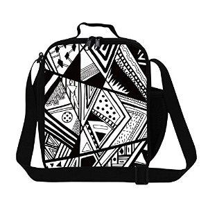 creativebags Lunchバッグwithボトルポケットの女性Man Boy Girl School Work Creativebags
