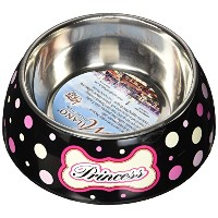 Loving Pets Princess Polka Dot Milano Bowl for Dogs, Medium by Loving Pets