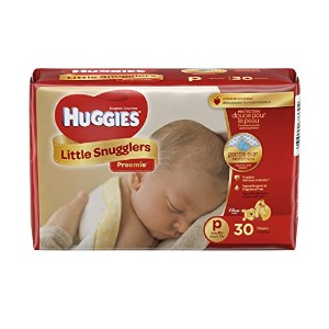 Huggies Gentle Care Preemies Diapers, Size P, 30-count by Kimberly-Clark