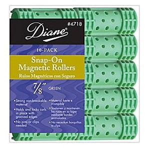 Diane Snap-On Magnetic Rollers - 7/8 Green by Diane Beauty Accessories