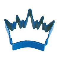 R&M Crown King Cookie Cutter, 3.5-Inch, Navy Blue with Brightly Colored, Durable, Baked-on...
