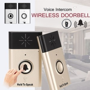 Smart LED Indication Wireless Voice Intercom Doorbell Loud Sound Two-way 300m Distance LED Indicator