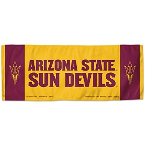 NCAA Arizona State Sun Devils冷却タオル、12 x 30インチ、2 Sided
