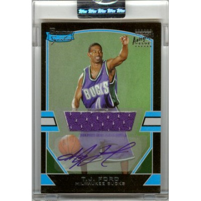T.J. Ford 2003/04 Bowman Signature Edition Rookie Jersey Autograph 1250枚限定!