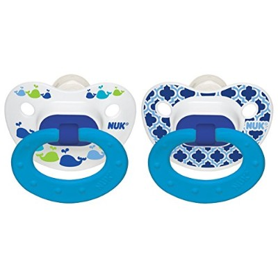 NUK Marrakesh & Whales Puller Pacifier in Boys, 18-36 Months by NUK