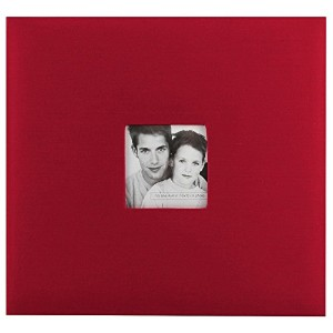High Qualitybric 12-Inch by 12-Inch Page Top Load Scrapbook with Photo Opening, Red, 13.2 x 12.5...