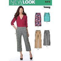 NEW LOOK Patterns Misses' Easy Pants and Skirts Size: A (8-10-12-14-16-18-20), 6419 by New Look