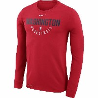 NBA プラクティス ロングスリーブTシャツ ウィザーズ(レッド) Nike Washington Wizards Red Practice Long Sleeve Performance T...