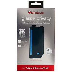 【ZAGG InvisibleShield Privacy Glass Screen Protector for Apple iPhone 7, iPhone 6s, iPhone 6 by...