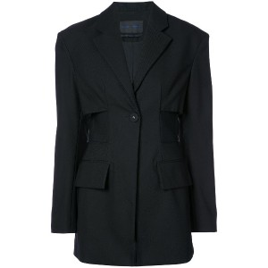 Proenza Schouler Single Breasted One Button Jacket - ブラック