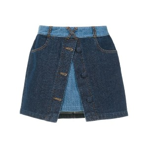 Andrea Bogosian layered denim skirt - ブルー