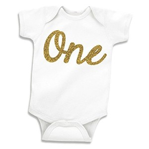 Girl First Birthday Shirt, Gold 1st Birthday Outfit (12-18 Months) by Bump and Beyond Designs