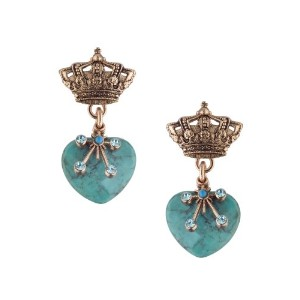 Ocean' Collection by Amaro Jewelry Studio 24K Rose Gold Plated Superb Earrings Garnished with...