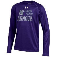 ユースunder armour Northwestern University Tech Long Sleeve Tee