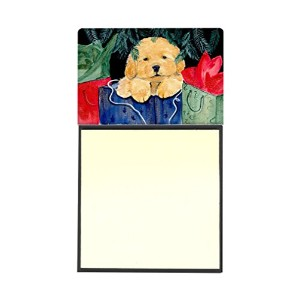 Caroline 's Treasures ss8580sn Golden Retriever詰め替え可能Sticky NoteホルダーまたはPostit Noteディスペンサー、3.25 by 5...