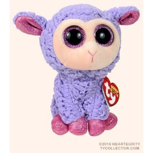 New TY Beanie Boos Cute Lavender the lamb Plush Toys 6'' 15cm Ty Plush Animals Big Eyes Eyed Easter...