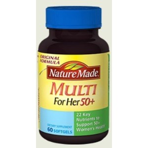 Nature Made Multi 50+ For Her 60 Liquid Softgels (Pack of 2) by Made In Nature