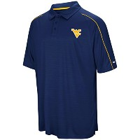 West Virginia MountaineersメンズブルーSetter合成Polyポロシャツ M ブルー