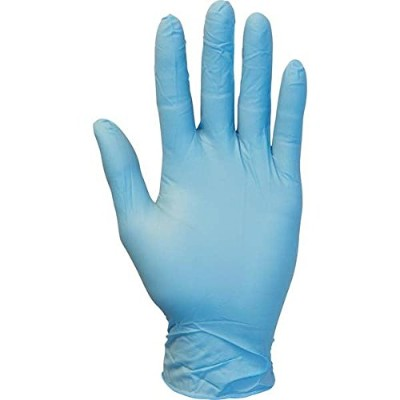 Blue Nitrile Gloves, Powder Free, Size Medium, 100 Per Box by The Safety Zone