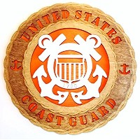 Coast Guard Armed Forcesミリタリー装飾レーザーCrafted 3 Dimensional Wooden Wall Plaque