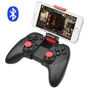 ALLCACA Bluetooth Game Controller Wireless Gamepad Rechargeable Phone Controller with Vibrating Func