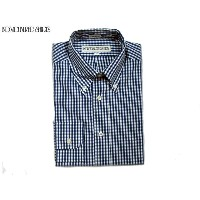 INDIVIDUALIZED SHIRTS(インディビジュアライズド シャツ)/L/S STANDARD FIT B.D. GINGHAM CHECK SHIRTS/navy