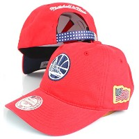 Mitchell & Ness NBA Stars WashedコットンDad Hatレッド レッド