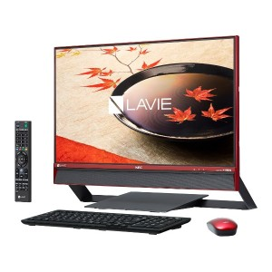 [新品] NEC LAVIE Desk All-in-one DA770/FAR PC-DA770FAR [クランベリーレッド](Win10/3TB/8GB/Corei7/23.8インチ) [正規版M