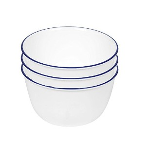【Corelle Livingware 28-Ounce Super Soup/Cereal Bowl, Navy Blue (3 Bowls) by Corelle Coordinates】...