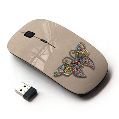 KOOLmouse [ ワイヤレスマウス 2.4Ghz 無線光学式マウス ] [ Wild Butterfly Parchment ]