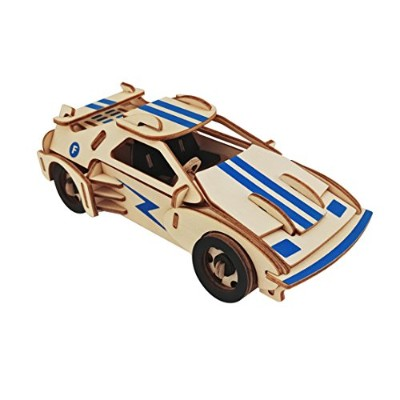 (98.4Lx35.4W) - Dlong 3D Wooden Model Toy Kit DIY Assembly Construction Jigsaw Puzzle Woodcraft Set...