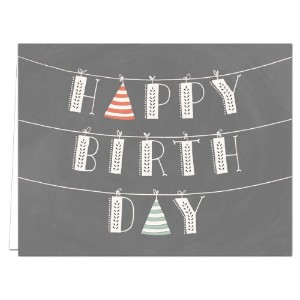 Suspended Happy Birthday - 36 Birthday Cards for $12.99 - Blank Cards - Gray Envelopes Included by Note Card Cafe