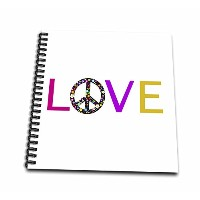 InspirationzStore Loveシリーズ–Love With Floral Peace Sign for O Hippy Hippie Flower Powerシンボル–...