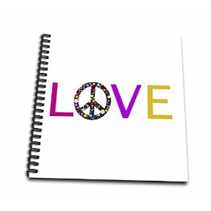 InspirationzStore Loveシリーズ – Love With Floral Peace Sign for O Hippy Hippie Flower Powerシンボル –...
