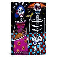 iCanvasART hgl1 Day of the Dead byヘザーGallerキャンバス印刷 18-Inch by 12-Inch, 0.75-Inch Deep HGL1-1PC3...