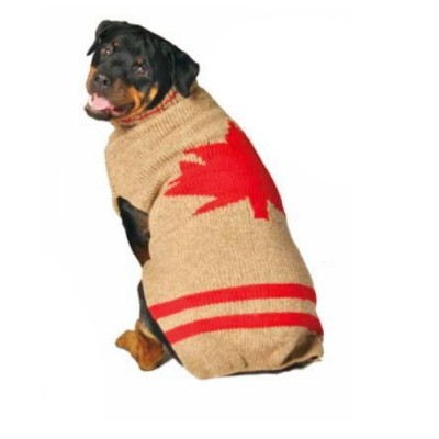 Chilly Dog Maple Leaf Dog Sweater, XX-Small by Chilly Dog