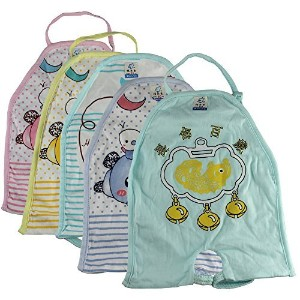 5 PcsベビーFeeding Bib Kids胃Belly Band Keep Warm Baby Prevent Cold Cartoon Catching
