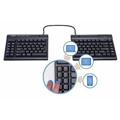 """Kinesis KB800MB-BT-20 Freestyle2 Blue for Mac Multichannel Bluetooth with 20"""" seperation by Kinesis..."""