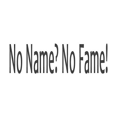 No Name ?No Fame 。、pre-inked先生ラバースタンプ( # 672609-a ) ,スタイルA Large size (58 x 18mm) パープル
