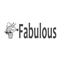 Fabulous with Beeイメージ、pre-inked先生ラバースタンプ( # 672305-h ) ,スタイルH Large size (58 x 18mm) ブルー
