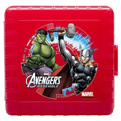 Zak! Designs GoPak Lunch Box Divided Food Storage Container featuring Avengers Graphics, Break...
