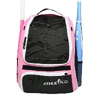 Athletico Softball Bat Bag – バックパックforソフトボール、野球、&ティーボール機器& Gear forキッズ、子供用、大人| Holds Bat、ヘルメット、グローブ...
